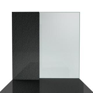 Nagrobek pojedynczy kamień+szkło o nowoczesnym wzornictwie.