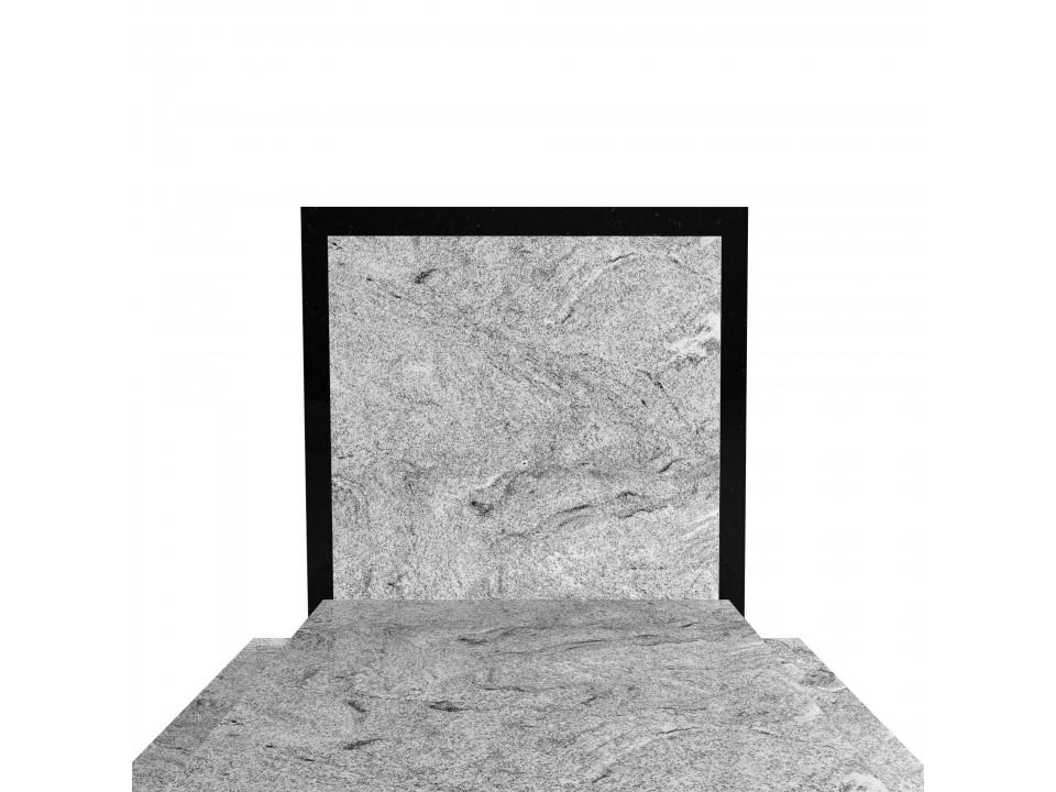 Podwójny nagrobek granitowy Wiscont White+Szwed o wymiarze podstawy 150x190