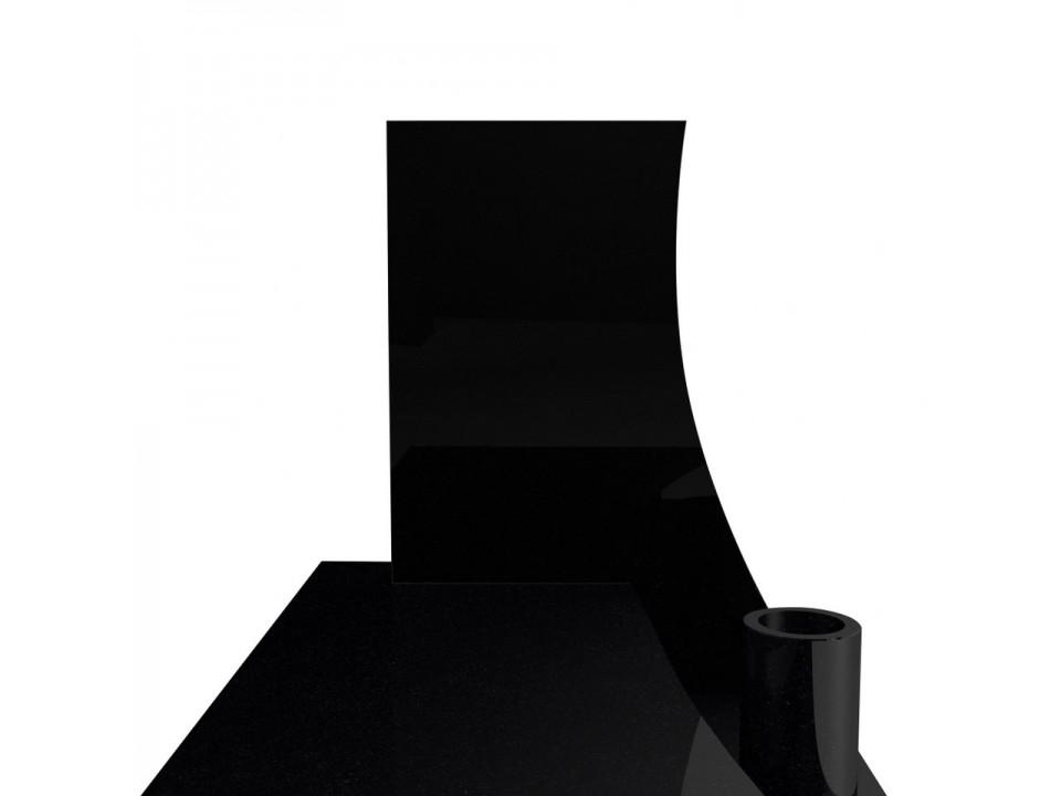 Czarny nagrobek granitowy w stylu włoskim 90x190 cm.