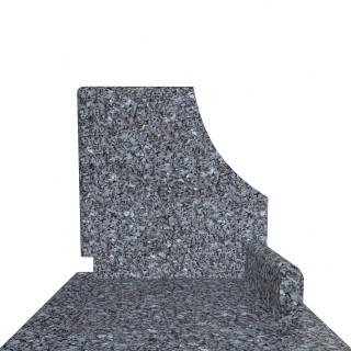 Pomnik granitowy o niespotykanym kolorze Blue Pearl.