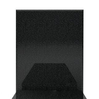 Pojedynczy nagrobek granitowy 90x190 z wysoką tablicą.