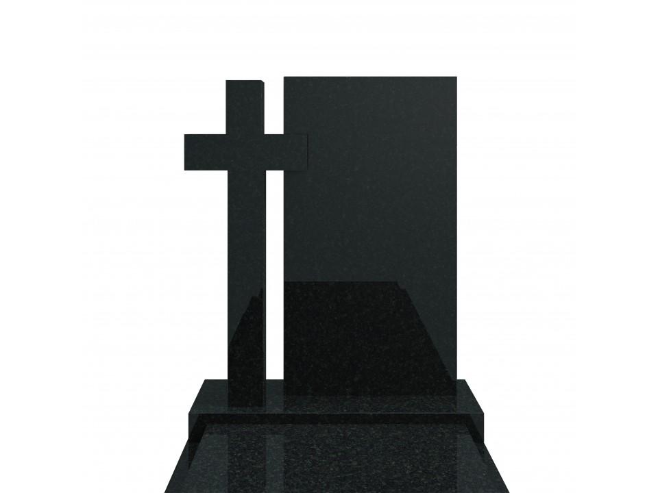 Granitowy pomnik wykonany z bardzo trwałego kamienia-Zielony Szwed.